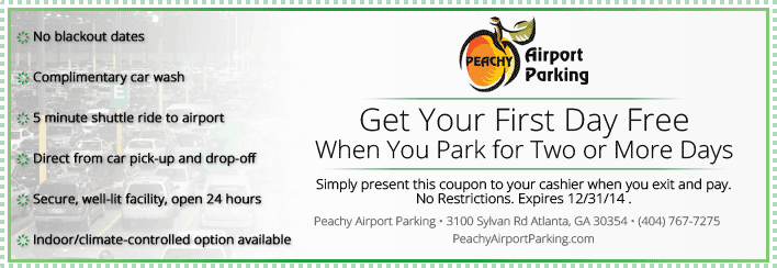 Atl airport parking discount coupons